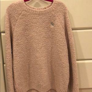 Blush pink Sherpa Abercrombie kids sweater